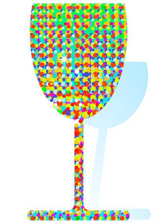 parade confetti: c�ctel color confeti Vectores