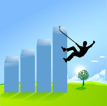 conjuncture: balance climbing Illustration