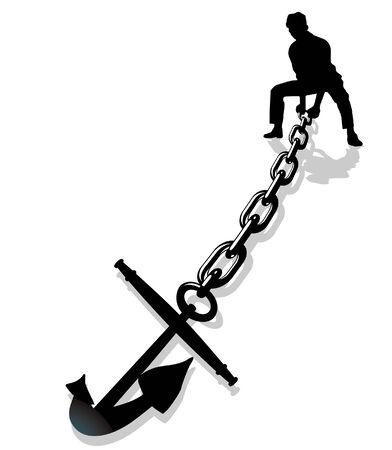 anchor lifting Stock Vector - 7804459