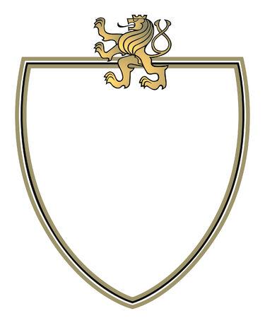 Crest mit goldener Löwe