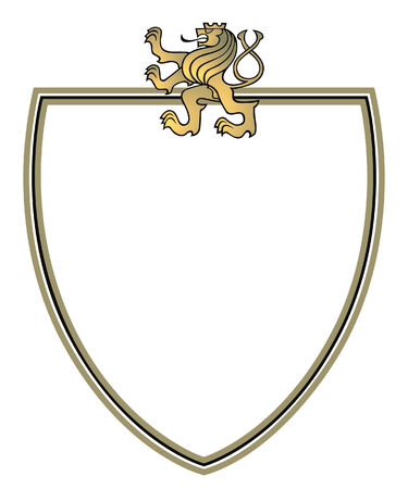 aristocracy: crest with golden lion