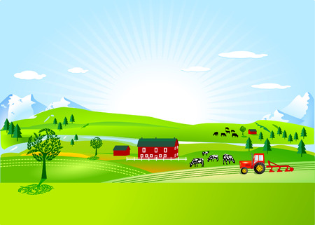farm and countryside Stock Vector - 7804468