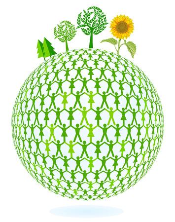 humankind: Green Earth Illustration