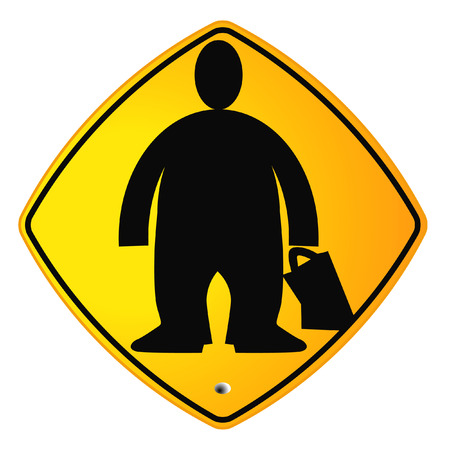 fatter: overweight sign