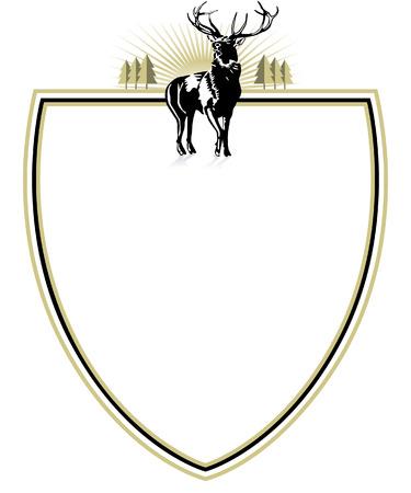 emblema del silvicoltore Vettoriali