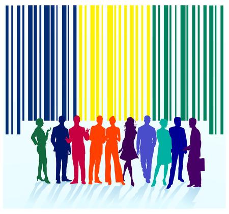 distribution automatique: �tiquette de code � barres, groupe