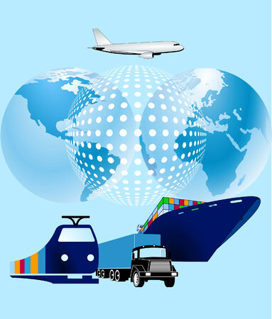 shipping supplies: cargo world-wide Illustration