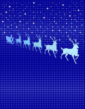 reindeer in heaven Vector