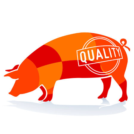 Quality Pork Stock Vector - 8038750