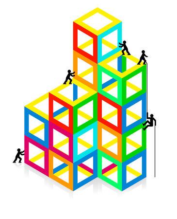 conjuncture: color construction Illustration