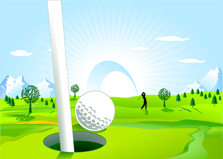 hole in one: hole in one Illustration