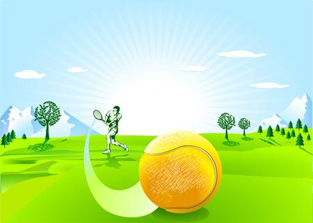 tennisball: tennis player