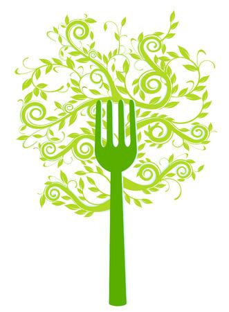 biological: to have a vegetarian dinner Illustration