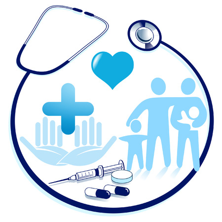 stethoscope exam: medical attendance