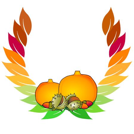 autumnal crest Vector