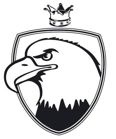 freigestellt: spread eagle with crown