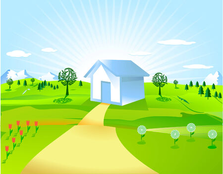 home and countryside Stock Vector - 8098918