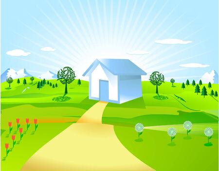 home garden: home and countryside