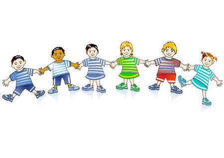 growing children Stock Vector - 8171488