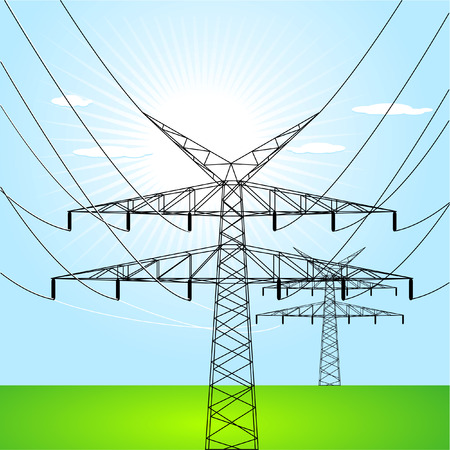 electrical towers Vector