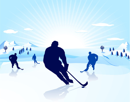 ice-hockey player Stock Vector - 8171487