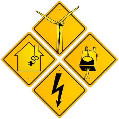 volts: electrical sign