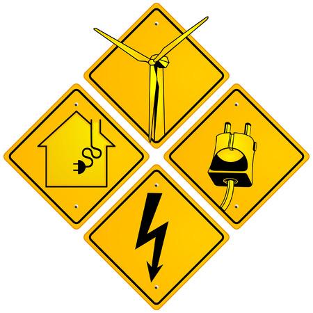 spannung: elektrische Zeichen