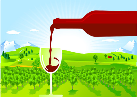 wine-growing Vector