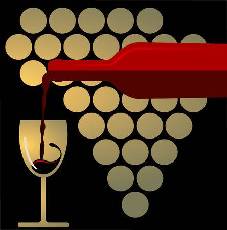 Red Wine Splashing Vector
