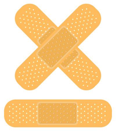 hilfsmittel: Band-Aid auf weiss, wenden Sie ein Pflaster