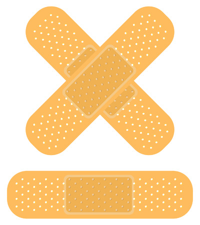 band-aid on white, apply a plaster Vector