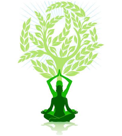 meditation exercise Stock Vector - 8171499