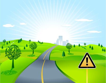 country lane Stock Vector - 8171507