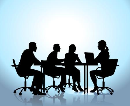 kollegen: -Team-Sitzung Illustration