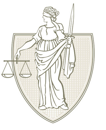 justice scales: jurisdiction Illustration