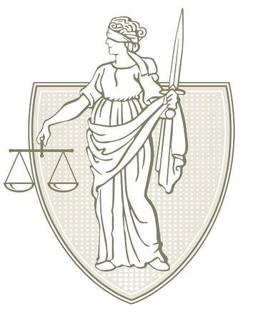 scales justice: jurisdiction Illustration