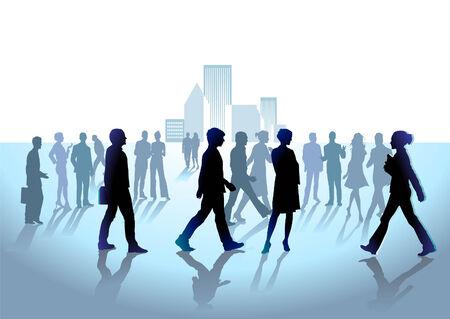 Grupo de personas de la multitud