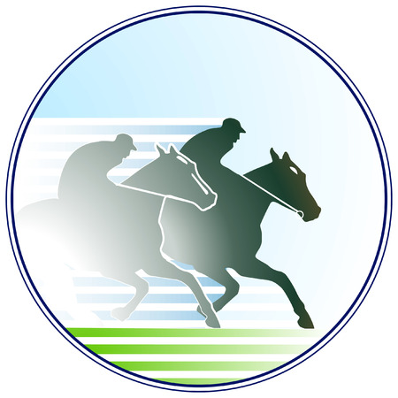 race horse: horse-racing sign Illustration
