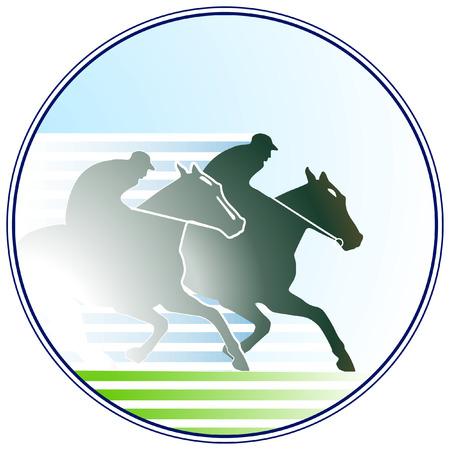Pferderennen Zeichen Vektorgrafik