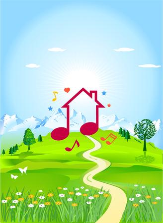 dream house Stock Vector - 8340030