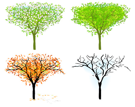 climate: tree in for season Illustration