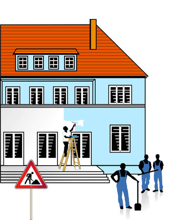 renovate: to renovate a building Illustration