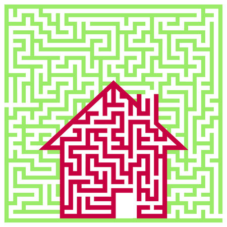 labyrinth house Stock Vector - 8427448