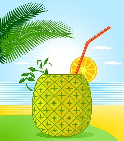 Cocktail de piña tropical