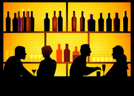 nightclub bar: nightclub Illustration