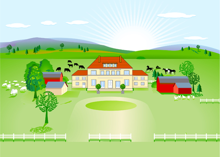 country estate Stock Vector - 8444469