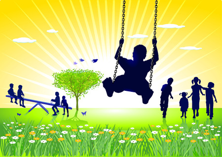 kids playground: to go on the swings