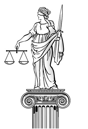Statue of justice Stock Vector - 8593832