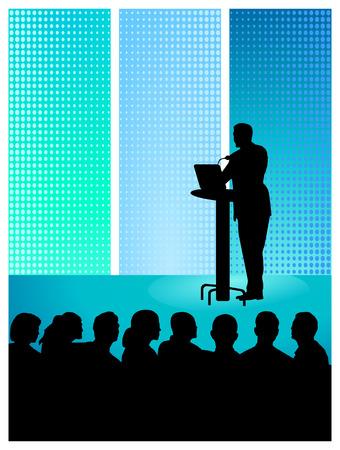 Einen Vortrag Standard-Bild - 8676523