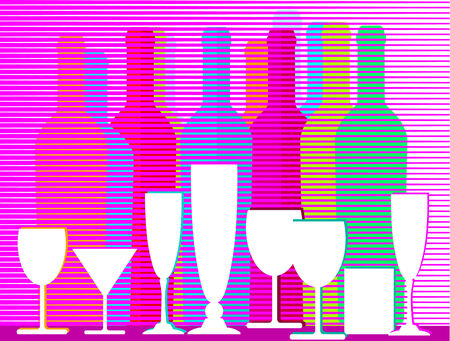 liquors, wine and sparkling wine Stock Vector - 8676531